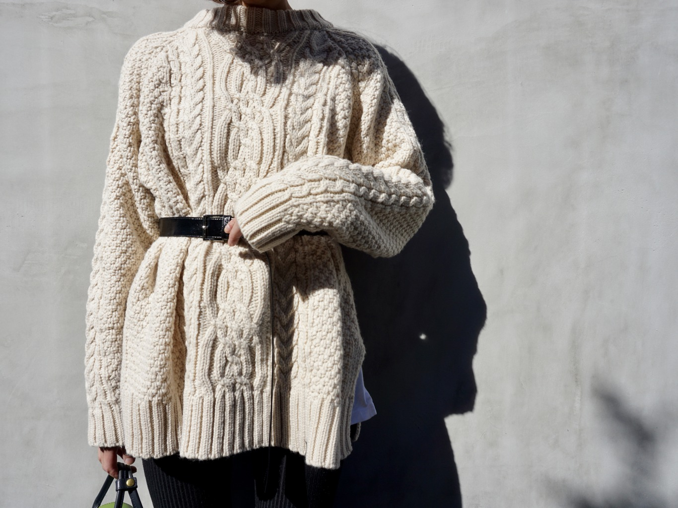 Slit Cable Knitwear